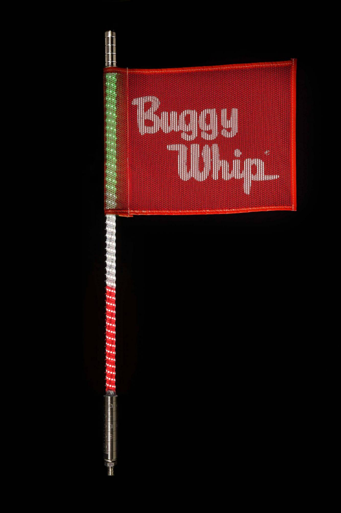 Buggy Whip - Green White & Red LED Buggy Whip®