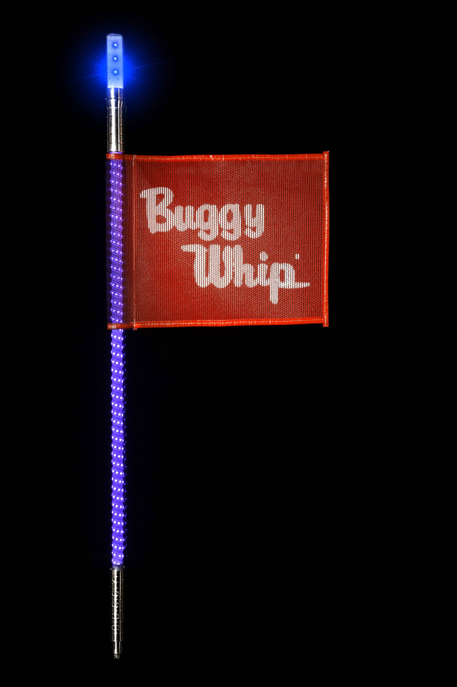 Buggy Whip - Blue LED Buggy Whip® with Lighted Top Option