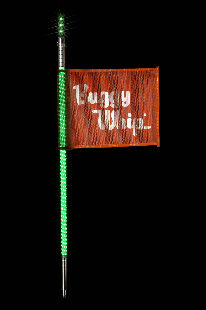 Buggy Whip - Green LED Buggy Whip® with Lighted Top Option