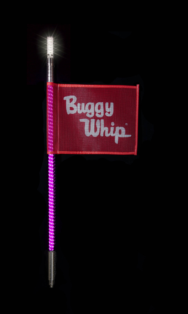Buggy Whip - Hot Pink LED Buggy Whip® with Lighted Top Option