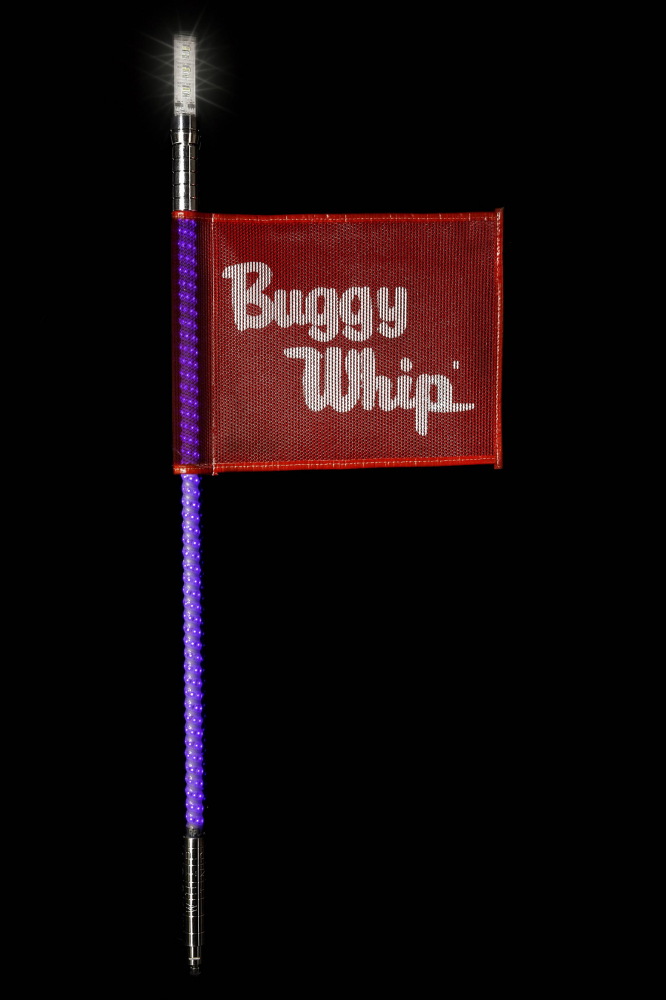Buggy Whip - Purple LED Buggy Whip® with Lighted Top Option