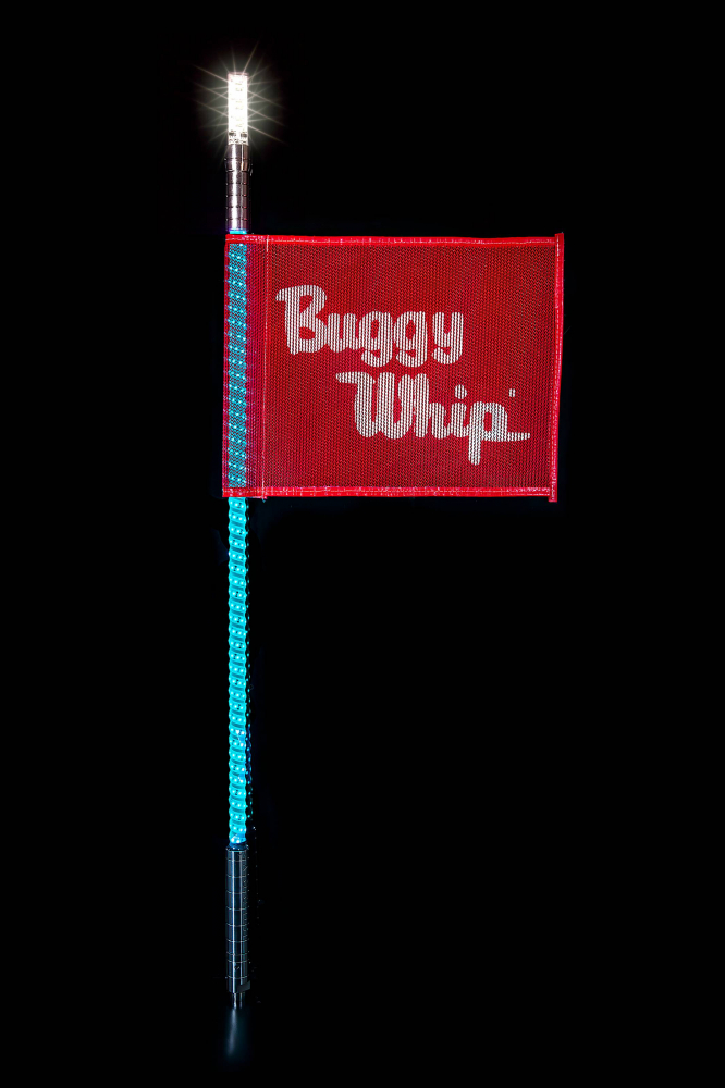 Buggy Whip - Buggy Whip® Teal LED Whips with Lighted Top Option