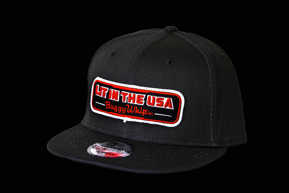 Buggy Whip - New Era®  Black LIT IN THE USA® Hat