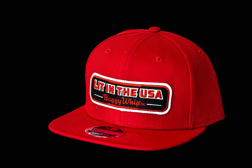 Buggy Whip - New Era® Red LIT IN THE USA® Hat