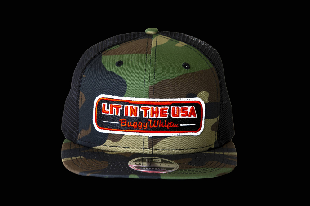 Buggy Whip - New Era® Trucker Camo Mesh LIT IN THE USA® Hat