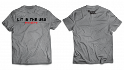 Apparel  - Lit in the USA®Gray T-Shirt