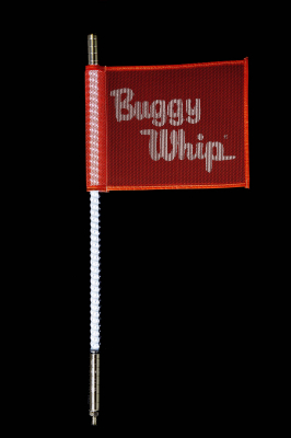 White Quick Release Buggy Whip