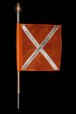 Buggy Whip - Amber LED Buggy Whip® with Lighted Top Option - Image 2
