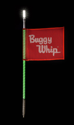 Buggy Whip - Green LED Buggy Whip® with Lighted Top Option - Image 2