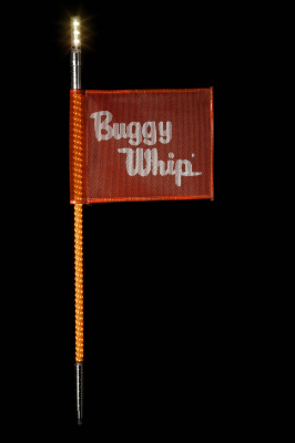 Buggy Whip® Orange LED Whips with Lighted Top Option