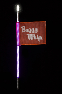 Buggy Whip® Pink LED Whips with Lighted Top Option