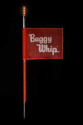 Buggy Whip® Red LED Whips with Lighted Top Option