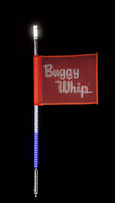 Buggy Whip® Red White & Blue LED Whips with Lighted Top Option