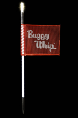 Buggy Whip® White LED Whips with Lighted Top Option