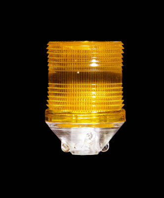 Buggy Whip® Amber LS2 Lamp Shield for Fiberglass Whips with Lamp Holder