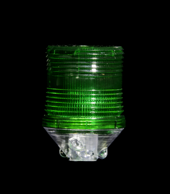 Buggy Whip® Green LS2 Lamp Shield for Fiberglass Whips with Lamp Holder