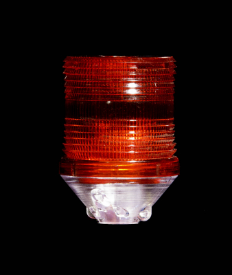 Buggy Whip® Red LS2 Lamp Shield for Fiberglass Whips with Lamp Holder