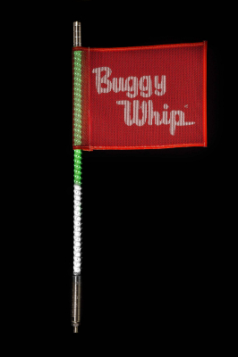LED Whips - LED Whips With Standard Top - Buggy Whip - Green/White LED Buggy Whip®