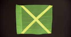 Buggy Whip® INDF#1GYX Florescent Green Industrial Flag with Yellow Reflective X 10INX12IN