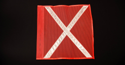 Buggy Whip® INDF#1OWX Florescent Orange Industrial Flag with White Reflective X 10INX12IN