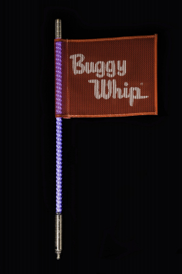 Blue Threaded Buggy Whip